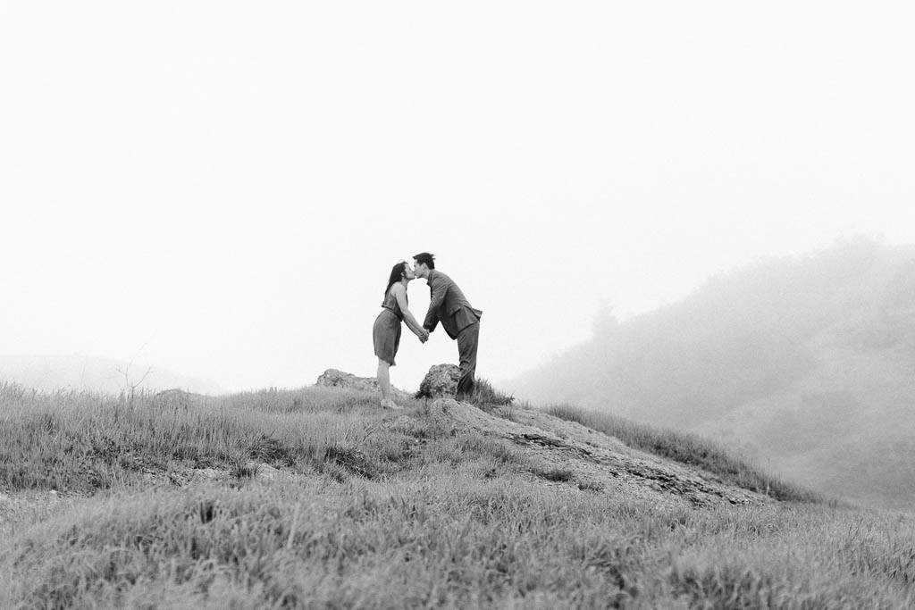 engagement shoot, photography, fog, san francisco, bay area, folie photography